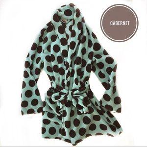 Cabernet Women's Aqua Marshmallow Fleece  Robe L